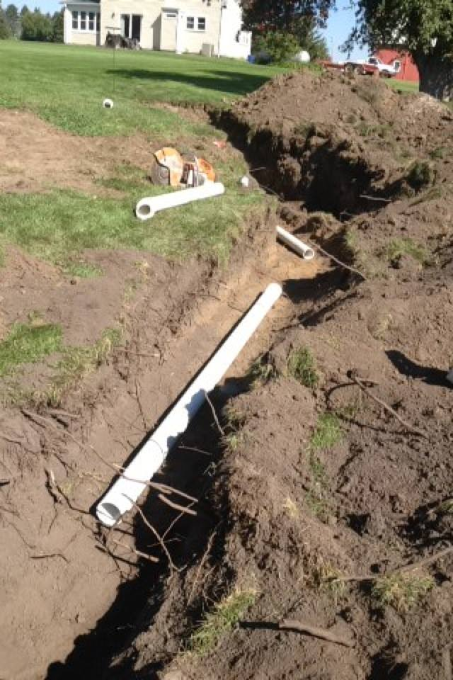 Residential Pipework 4 - Laying down pipework for a residential area.
