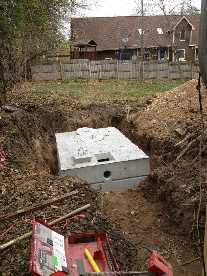 Underground Appliances - Digging a hole that will be used to install an underground appliance.