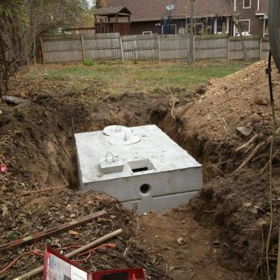 Underground Appliances Digging a hole that will be used to install an underground appliance.
